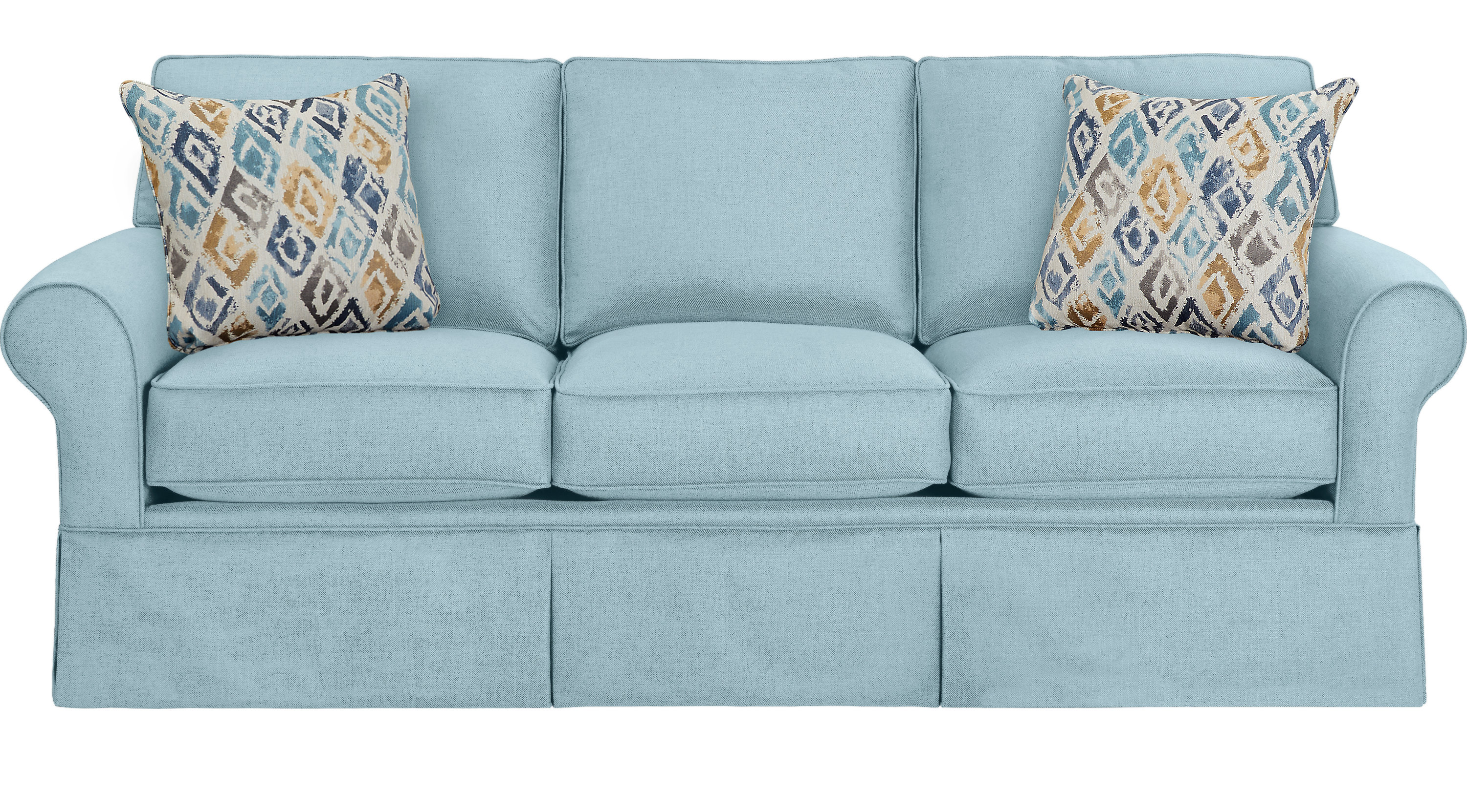 Superior Provincetown Sky (light Blue) Sofa   Classic   Transitional, Polyester