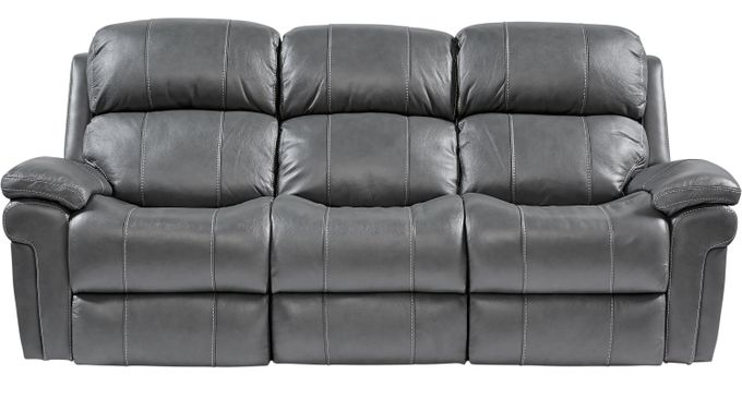 $1,099.99 - Trevino Smoke Leather Reclining Sofa - Contemporary,