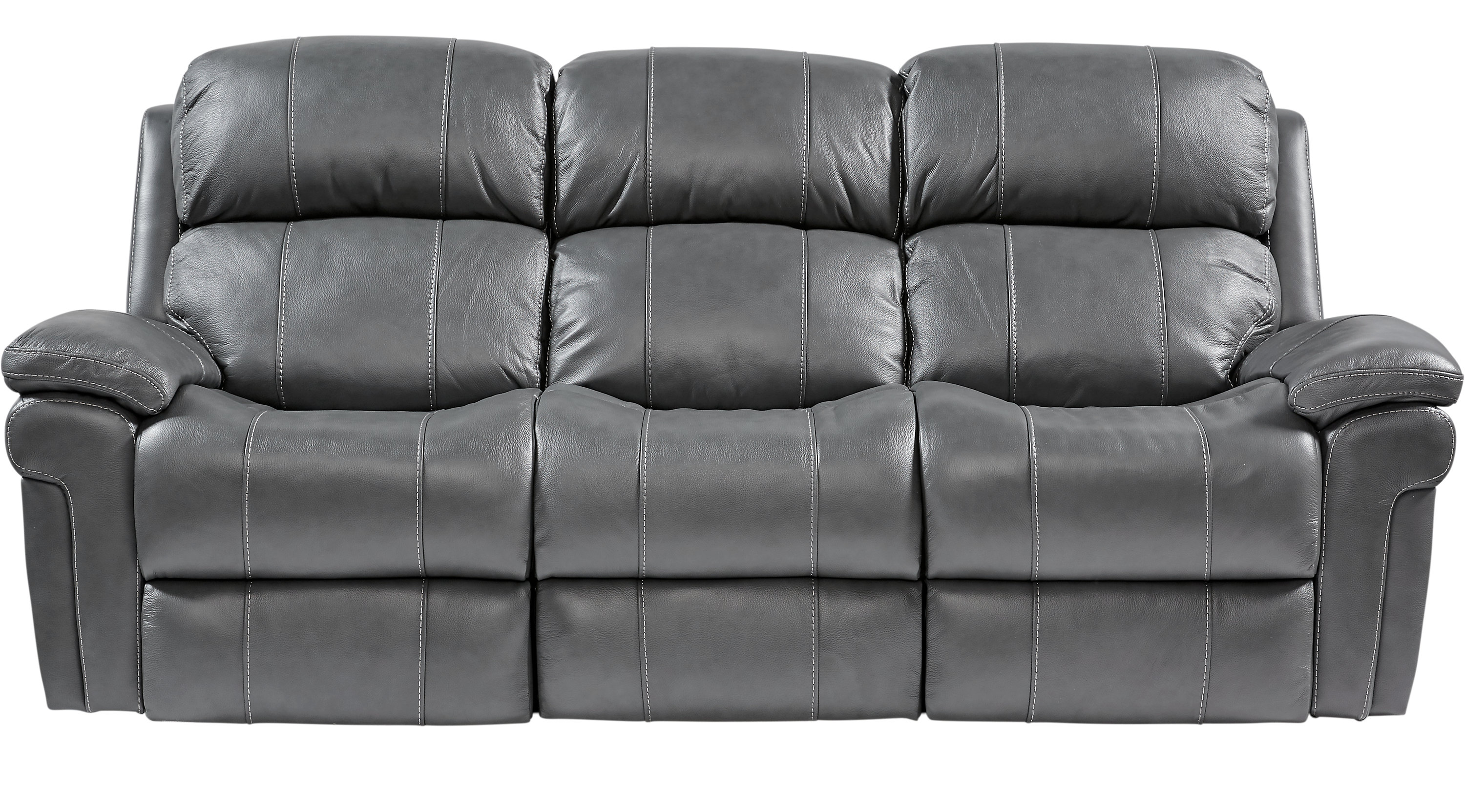 Trevino Smoke Leather Reclining Sofa