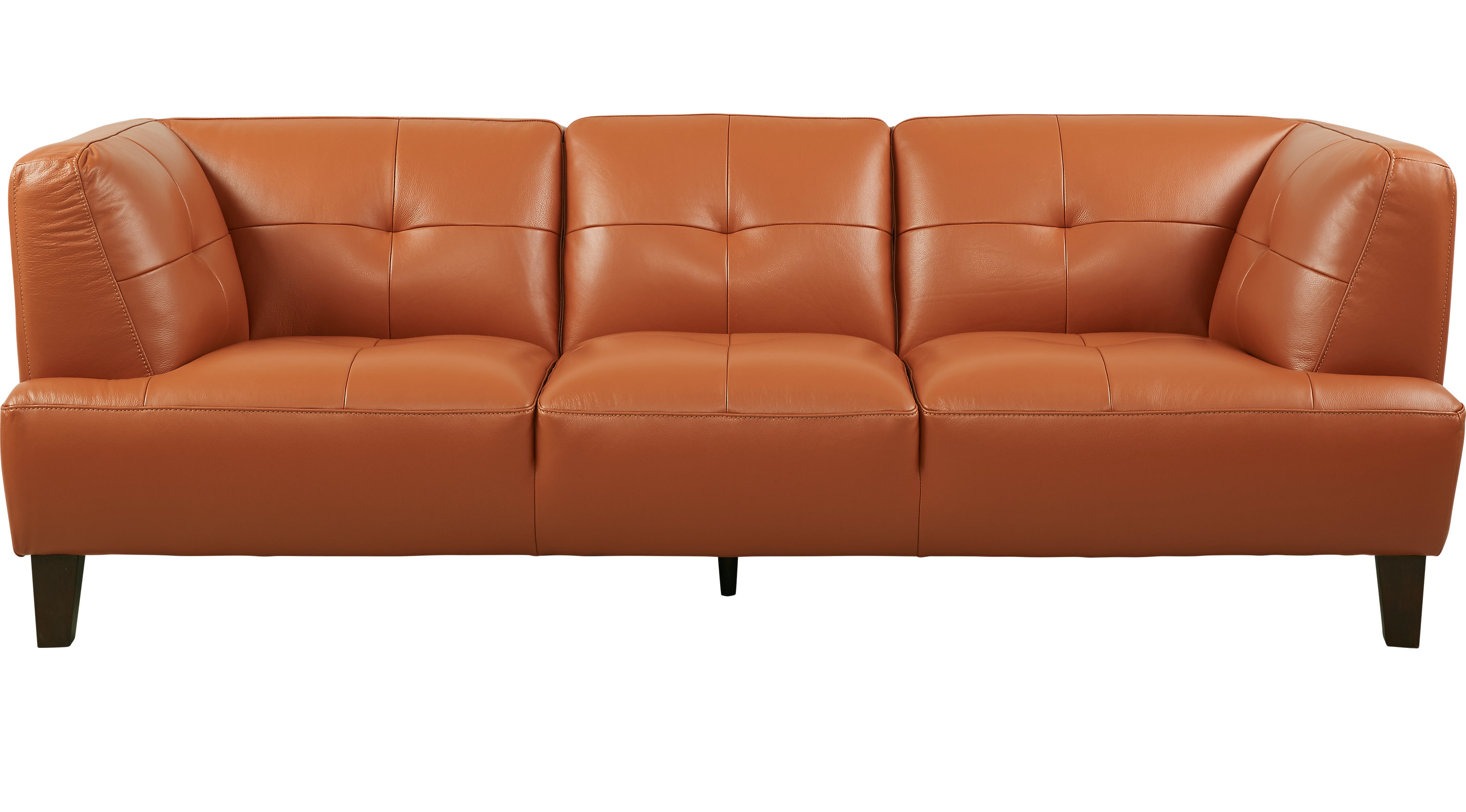 Etonnant Villa Capri Orange Leather Sofa
