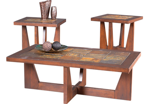 Brad Brown 3 Pc Table Set - Rectangle - Transitional
