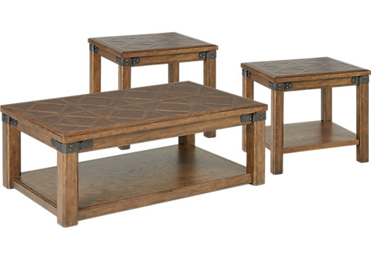 Eric Church Highway To Home Heartland Falls Brown 3 Pc Table Set - Rectangle - Rustic