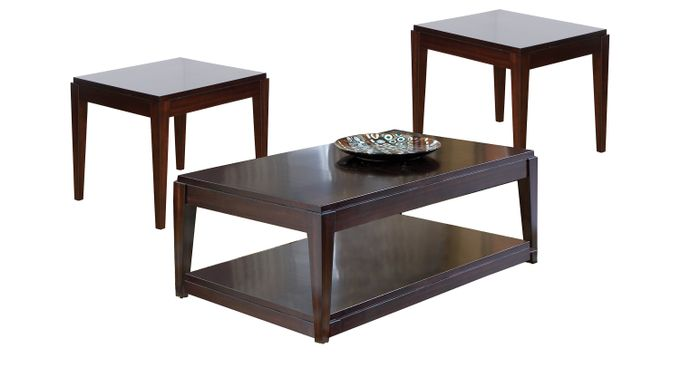 Lansing Cherry 3 Pc Table Set - Rectangle - Traditional