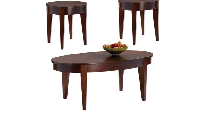 Seth Cherry 3 Pc Table Set - Oval - Contemporary