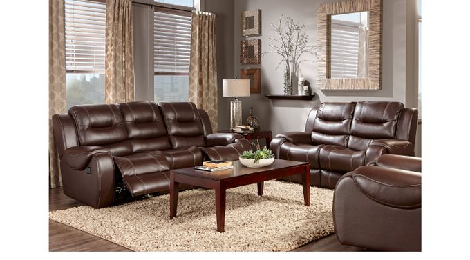 Baycliffe Brown 3 Pc Living Room - Classic - Contemporary, Polyester