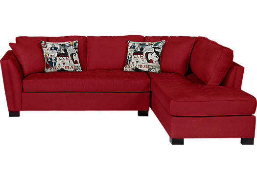 1 399 99 Calvin Heights Cardinal Red 2 Pc Sectional