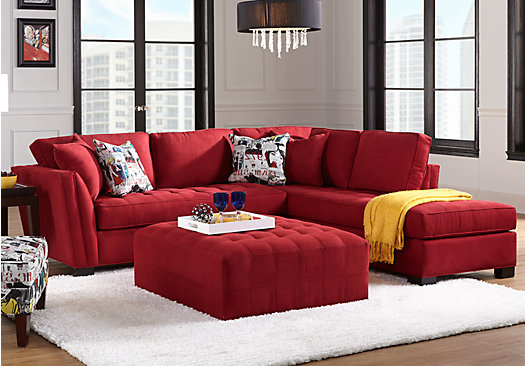 Cindy Crawford Home Calvin Heights Cardinal 3 Pc Sectional Living Room Part 95