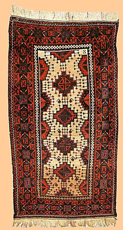 Baluch Rug North East Persia century 1900