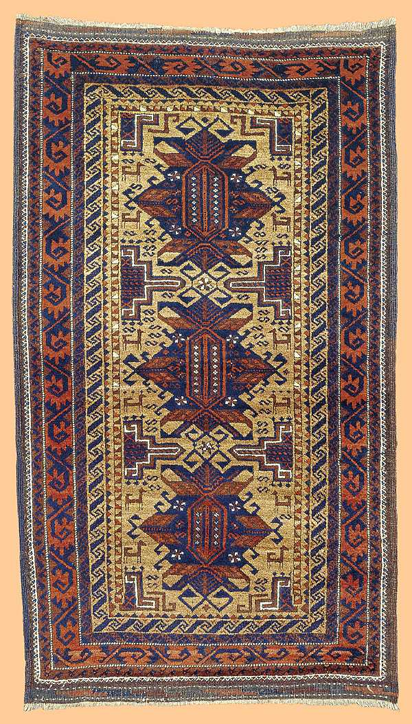 Baluch rug Persia second half 19th C