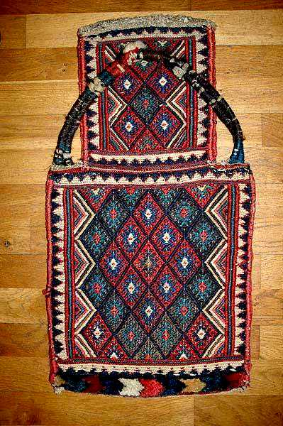 Sanjabi Kurd Sumac and Pile Salt bag Last Quarter 19th C