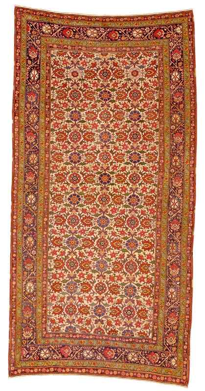 Mini Khani pattern Fereghan carpet 3rd quarter 19th century