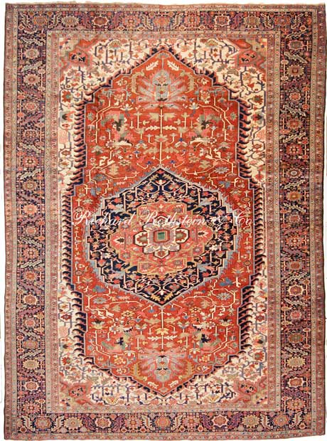 Beautiful Masterpiece Heriz Oriental Rug