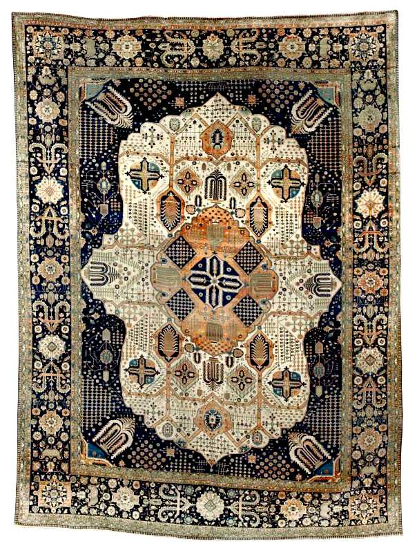 Motashem Kashan Carpet, Last Quarter 19th C.
