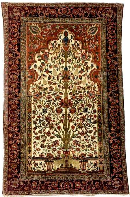 Motasham Kashan Prayer Rug, West Central Persia, Late 19th Century