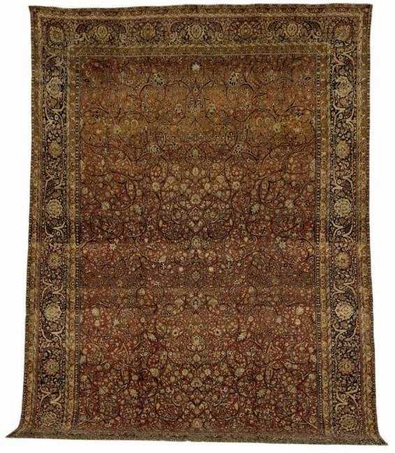 Motashem Kashan Carpet, Late 19th C.