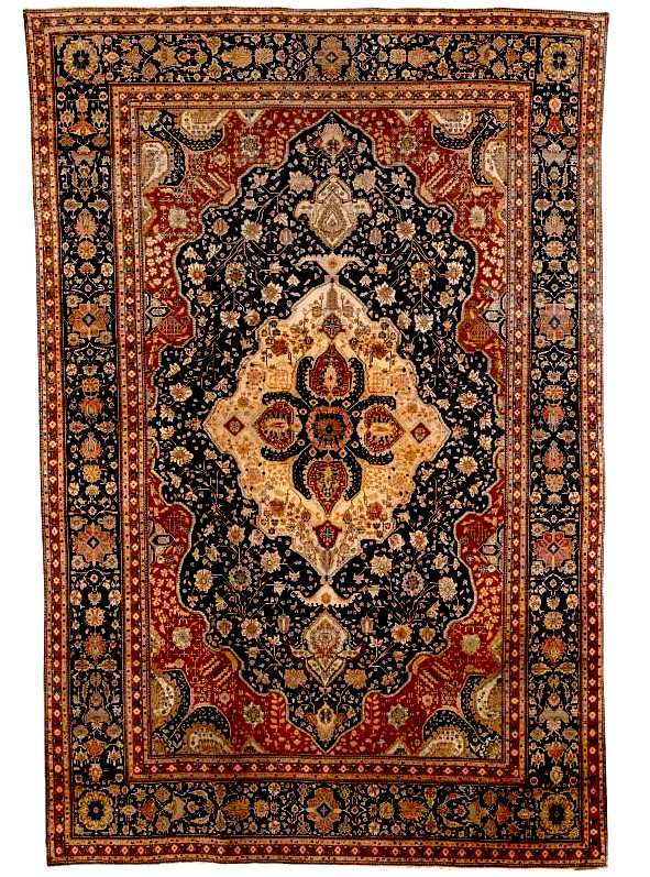 Motashem Kashan Carpet, Central Persia