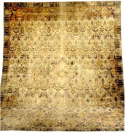 Antique Khorasan Shrub Carpet 17th Century
