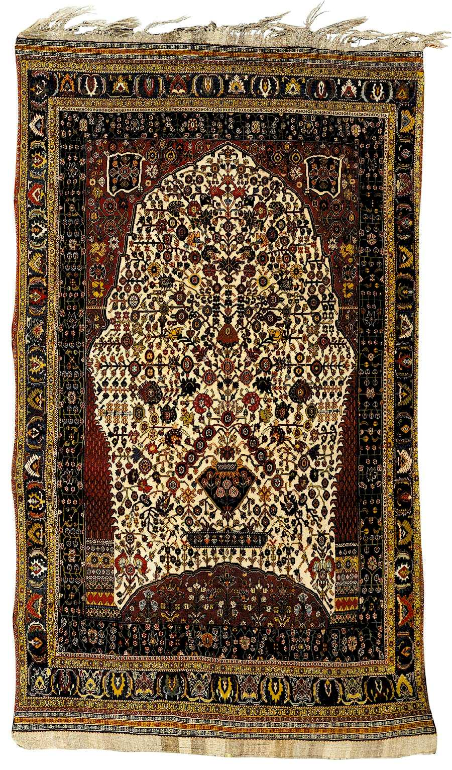 Qashqai Millefluers Prayer Rug early 20th c.