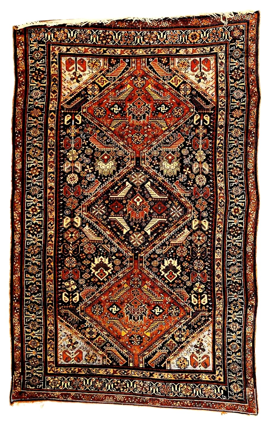 Pole Medallion Qashqai Rug last quarter 19th C Fars Province