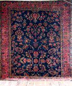 Blue Field Sarouk Carpet