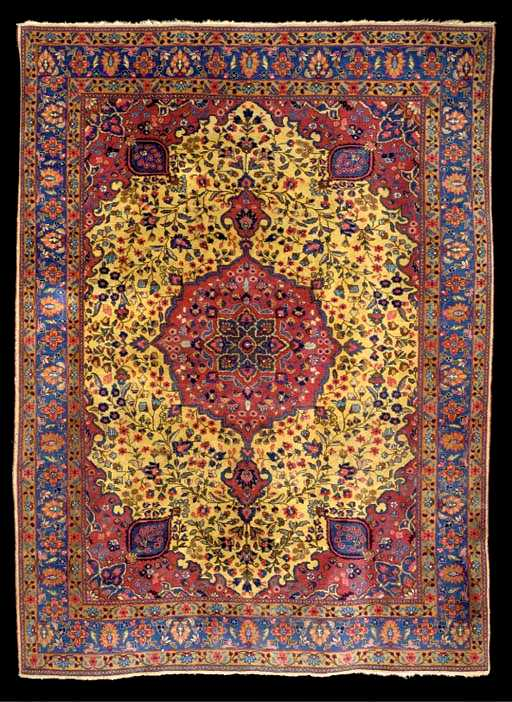 Antique Floral Medallion Persian Tabriz Rugs Amp Carpets