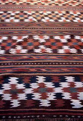 "Northern Persian semi-antique ""eye-dazzler"" Kilim"