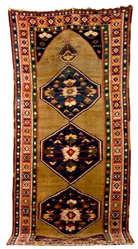 North Persian Kilim, dated 1901