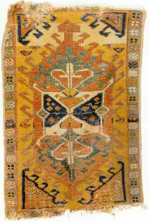 Antique Central Anatolian Yastik Mid 19th century