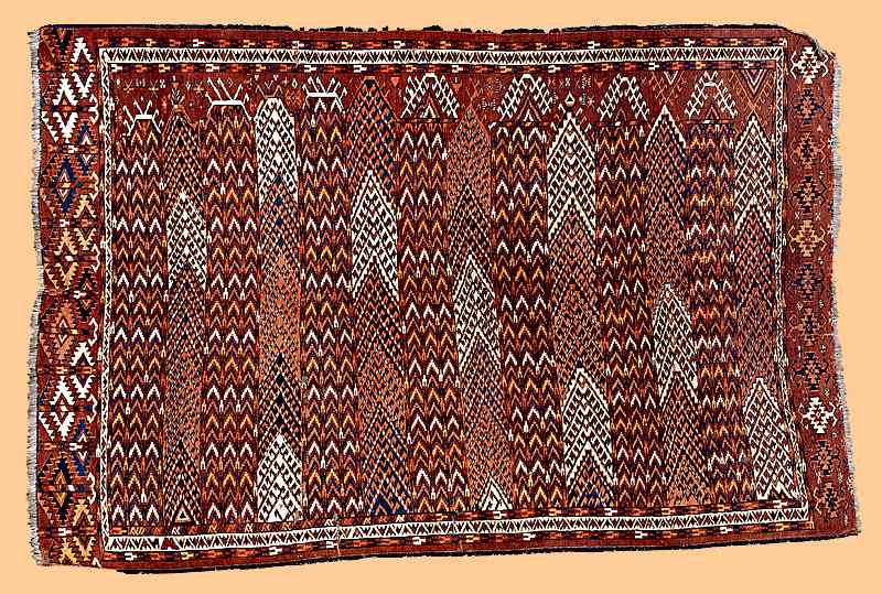 Yomut striped carpet 19th c.