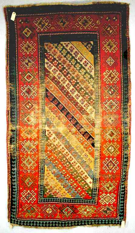 Late 19th-early 20th C. Genje Long Rug