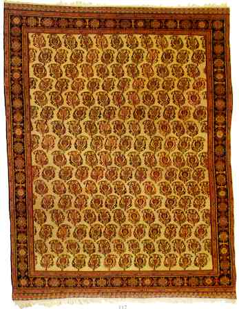 A Qashqa'i Rug last quarter 19th Century with structure