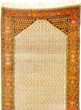 A Qashqa'i Long Rug Circa 1900 with Structure