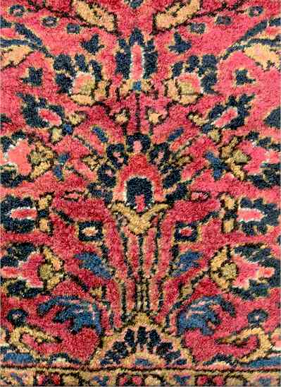 Antique Painted American Sarouk/Sarough Rug Circa 1930