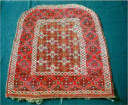 Antique Yomut or Goklen Saddle Rug