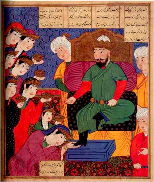 the Traveler and the Dervish. c. 1486.