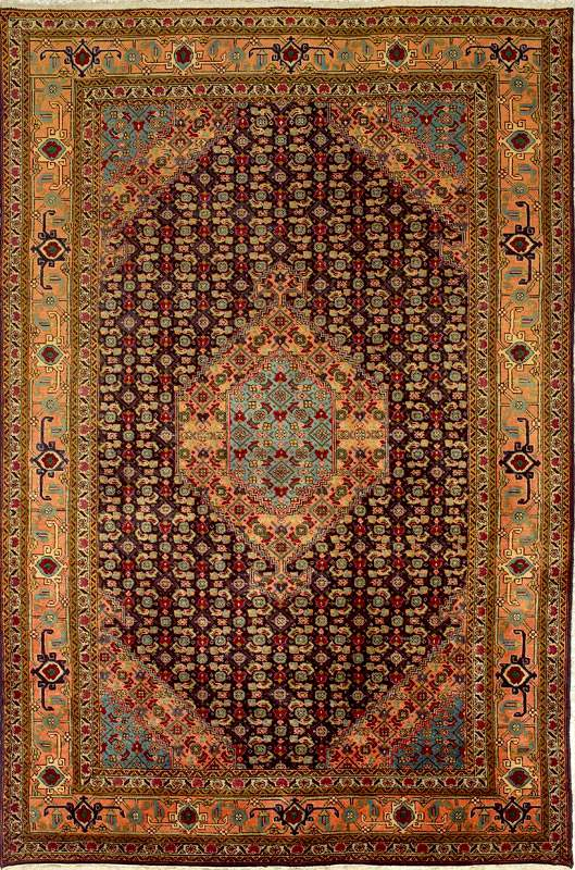 Ardabil Rugs: Blue Field Ardabil Rug from RugMan