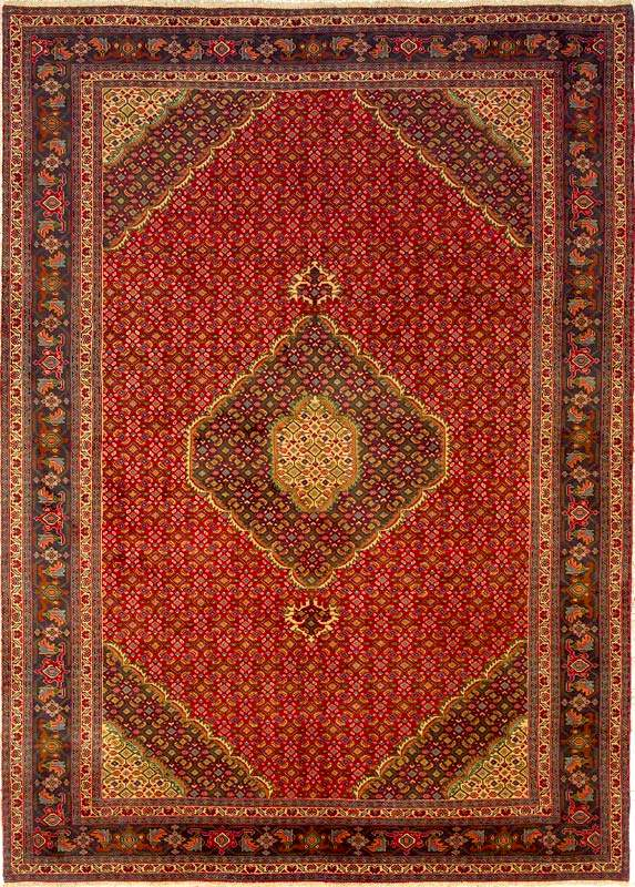 Ardabil Rugs: Red Field Ardabil Rug from RugMan