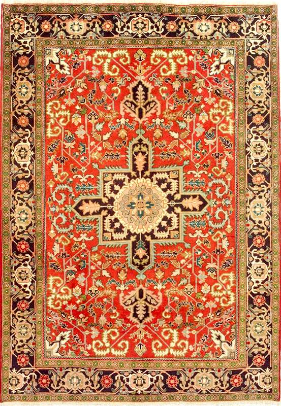 Gorevan Carpet with a Serapi Design