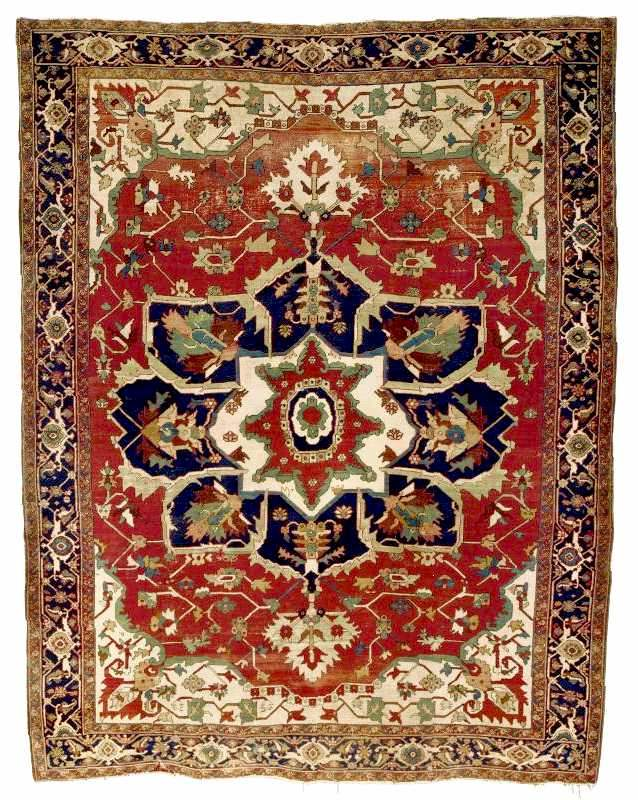 Heriz Carpet Circa 1880