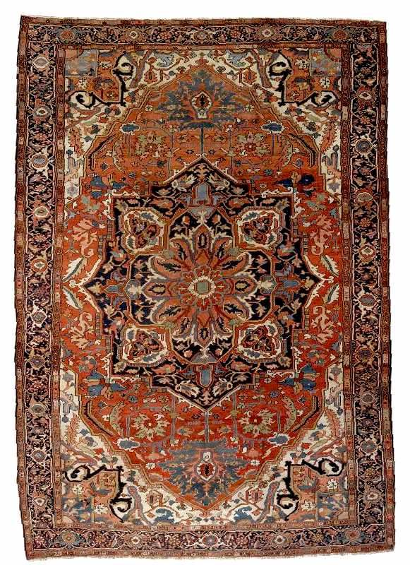 A Heriz Carpet. Northwest Persia