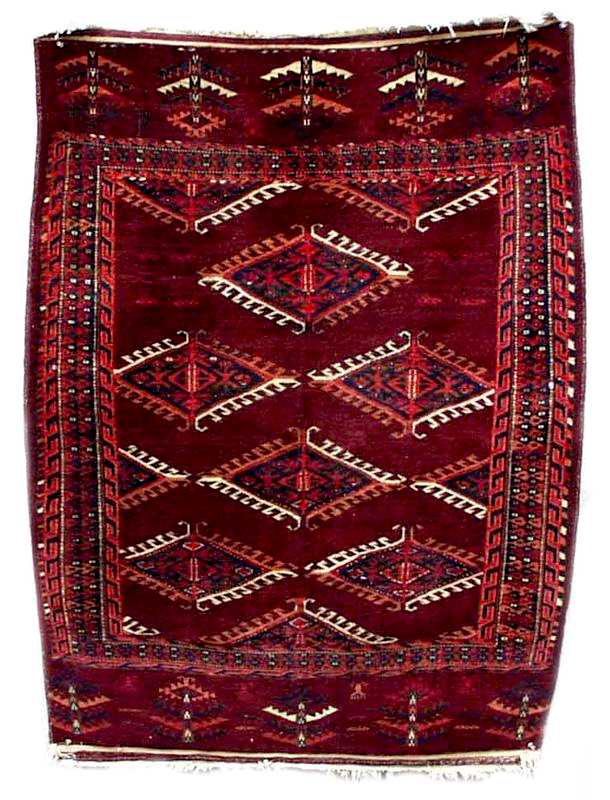 Small Eagle Group II Goklen Rug circa 1860 from Nomad