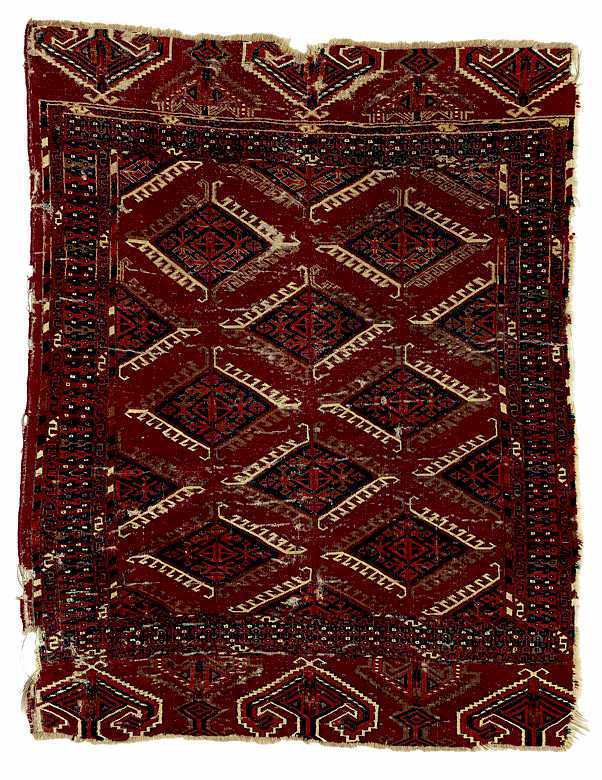 Small Rare Goklen Rug early 19. C
