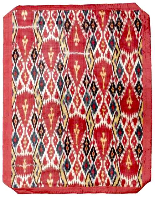 Ikat Central Asian Panel late 19th century