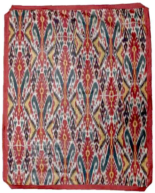 Ikat Large Silk Panel C 1900