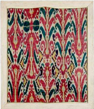 Ikat Large Silk 5 Piece Panel 19th century