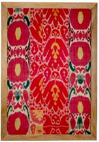 Ikat Silk 6 Piece Panel 19th century