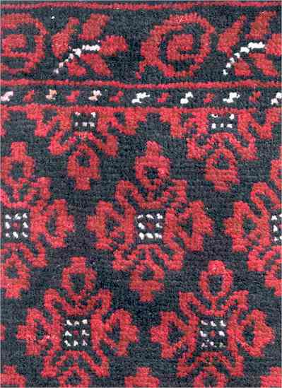 Baluch Rosette Lattice Rug