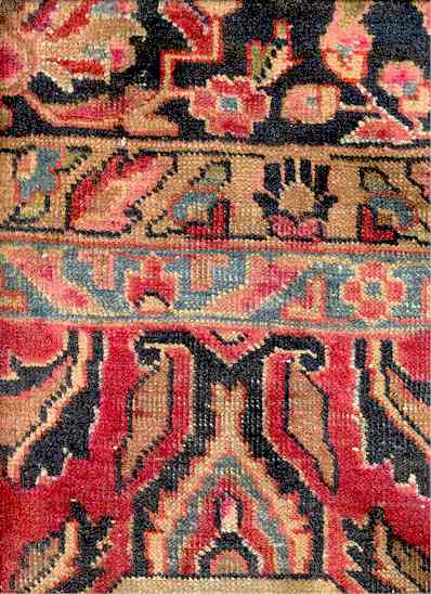 American Sarouk Carpet 9 by 11 Foot Circa 1920