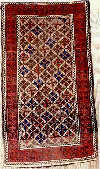 Antique Kurd or Bahluli Baluch Rug