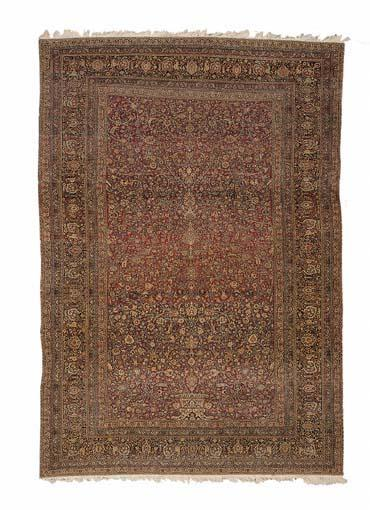 Amoghli Mashhad Persian carpet C. 1900